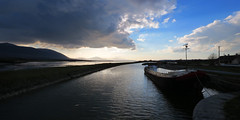 Barge on Tralee Ship Canal - Blennerville - Kerry - Ireland (DMC .) Tags: ireland panorama irish nature landscape al can kerry barge tralee blennerville