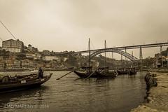 Cais de Gaia (Joo.Martins) Tags: city bridge portugal barcos north ponte porto gaia oporto rabelos norte nortedeportugal cityescape northportugal