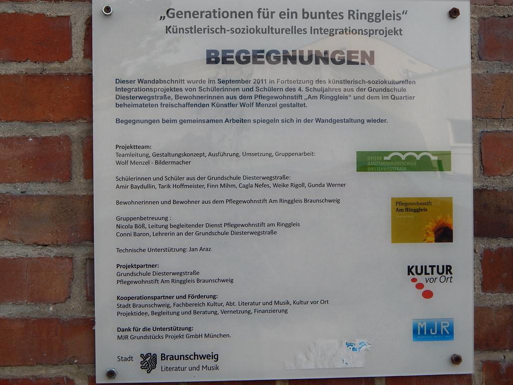 BS, Wandmalkunst Am Ringgleis (bleibend) Tags: Grafitti Bs Kunst Bilder  Braunschweig 2014