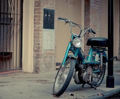 Vintage (Scott Mohrman Photography) Tags: blue bike scott photography louisiana teal neworleans scooter motorbike frenchquarter transportation transit motor nola moped mohrman