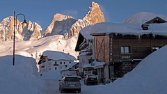 Rolle Pass - Dolomites (ab.130722jvkz) Tags: italy trentino alps easternalps dolomites palagroup mountains snowfall winter sunset