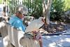 03. Reading with an ibis (Misty Garrick) Tags: johnpennekamp johnpennekampreef johnpennekampcoralreefstatepark coralreef florida keylargofl keylargo floridakeys atlanticocean travelbest