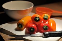 pick a pepper (52/365) (werewegian) Tags: pepper bell capsicum knife bowl food preparation werewegian feb17 365the2017edition 3652017 day52365 21feb17