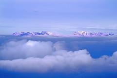 ALPENGLOW (GEORGE TSIMTSIMIS) Tags: outdoors mountain winter greece giona clouds pentaxk1 ricohimaging land sky blue white nature