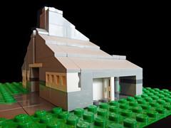 LEGO Vanna Venturi House - Side (keoarchitect) Tags: building architect postmodern complexityandcontradiction postmodernism pennsylvania house mothershouse vsba chestnuthill philadelphia legoarchitecture venturiscottbrownandassociates robertventuri lego legoideas legomoc venturi architecture