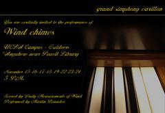 1 WINDCHIMES 2004 invitation (martinbonadeo.art) Tags: windchimes art music wind carillon soundart intervention sitespecific musica carrillon artesonoro