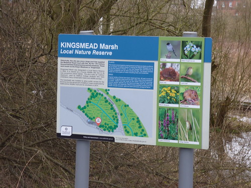 Kingsmead March - Local Nature Reserve - North Walls, Stafford - sign