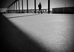 unaccompanied. (HansEckart) Tags: streetphotografy bw blackandwhite monochrome schwarzweiss line shadowplay streetphoto perspective people city urban
