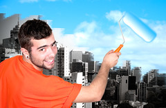 man painting sky (Francis Jimnez Meca) Tags: blue summer wallpaper sky people cloud sun white inspiration abstract color male men art nature beauty wall paper creativity outdoors idea freedom design paint day pattern peace hand symbol drawing background air paintings sketching dream location brushing canvas human painter roller concept draw build paintbrush cloudscape isolated easel rolled platen
