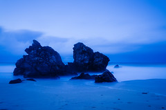 Tide (Kuayotsi) Tags: beach night lights scotland sand long exposure tide sabbia scozia sango