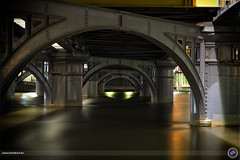 Under the bridge (rene.kisselbach.photography) Tags: street city travel bridge urban panorama building tourism metal skyline architecture modern work canon river landscape harbor living dock construction view apartment south centre australian australia melbourne pedestrian arches center victoria exhibition structure southbank wharf convention yarra docklands cbd vacations construct renekisselbachphotography