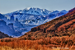 Where Mountains & Desert Collide (Aspenbreeze) Tags: snow mountains southwest rural utah country towers fisher peaks utahlandscape lasallemountains aspenbreeze moonandbackphotography bevzuerlein mountainsscape