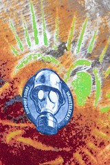 Chernobyl gas mask (MoraTilTordis) Tags: logo colours mask radiation ukraine gas disaster second chernobyl pripyat