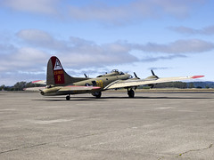 B-17 909 Taxing Out (Argon's Art) Tags: historic sonomacounty dday vintageaircraft collingsfoundation historicaircraft sonomajetcenter b17909