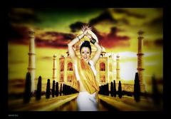 Bollywood (Miguel M.R) Tags: india asia chica tajmahal bollywood baile vestido palacio