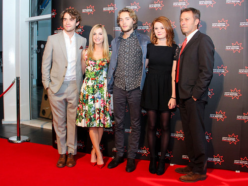 Director Andrew Douglas with Jamie Blackley, Joanne Froggatt, Toby Regbo and Amy Wren at the UWantMeToKillHim photocall at Cineworld