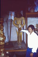 Charles Bronson Double (JF Sebastian) Tags: portrait sculpture church wooden bolivia sanmiguel jesuschrist scannedslide rutaquetzal digitalized morethan100visits rutaquetzal1996 oldfilmautomaticcamera