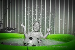 Splash!! (green pool) (danielg.blount.photography (please don't follow me) Tags: summer water pool canon garden droplets drops play drop droplet splash paddlingpool 550d splashpool eos550d