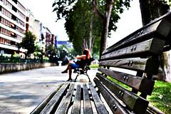Aiming bench lines (pgramvousakis) Tags: ana spain nikon bilbao 1855mm bilbo espania hispania d3100