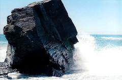 (ShannonElisabeth) Tags: ocean film beach humboldt nikon waves kodak wave humboldtcounty kodakgold nikkormat drylagoon lagood crashingwave nikonel