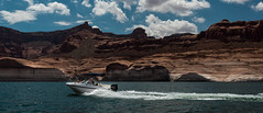 Lake Powell (5.6 Million Views www.DelensMode.com) Tags: trip travel bridge red arizona cloud lake beach water beer rock clouds relax fun boat utah rainbow sand nikon warm wake arch natural board sigma dry fresh clear german donut boating powell largest d600 35mm14 d7100