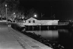 (Jackson Goad) Tags: film water night 50mm bay dock nikon nikonfm2