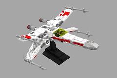 Incom T-65 X-Wing Starfighter. (LegoNoitAllMocs) Tags: starwars model lego xwing moc t65 episode4 starfighter episode5 episode6 incom foitsop