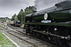 1501 + 34053 (C.P.JonesPhotography) Tags: park railway keith severn valley sir svr arley 1501 15xx bofb