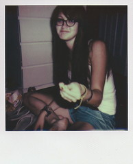 (miacelestelee) Tags: vintage polaroid glasses retro mcdonalds redhead polaroidimpulse theimpossibleproject