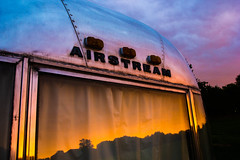 Reflection LD (samkearns) Tags: light night canon painting dorset airstream 550d