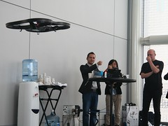 drone hackathon inteldeveloperforum quadcopter aerialdrone virtualcontrol gesturecontrol perceptualcomputing idf13 intelperceptualcomputingsdk javabindings parrotar