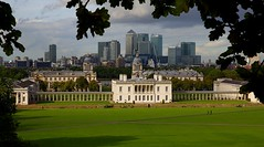 Greenwich and Canary Wharf, London (vrod2012) Tags: park uk house london greenwich navy royal maritime wharf canary banks
