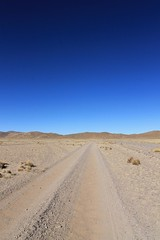 The straight road to San Antonio de Lipez
