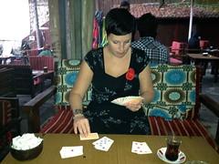 Potje kaarten in de theetuin