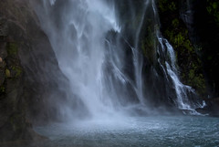 Fairy Falls (Jocey K) Tags: sea newzealand plants mountains water waterfall bush rocks scene nz southisland fjord milfordsound lanscape mitrepeak fairyfalls fiordlandnationalpark abigfave southwestnewzealandworldheritagearea milfordmarner milfordsoundnaturecruise