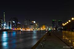 Deira Creek Side (Joseph Caperoso) Tags: light water night marina landscape photography boat nikon dubai view market uae souk souq deira