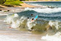 P7190145 (jbrownell) Tags: vacation beach hawaii bay locals body wave maui condo boarding breaking sabbatical maalaea