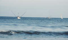 Out at Sea (mbsanchez0311) Tags: ocean blue sea summer seascape beach nature water beautiful canon landscape boats photography boat sand waves horizon bluewater shore sail sailboats tranquil oceanscape vsco vscocam