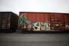 (o texano) Tags: bench graffiti texas houston trains freights plantrees sworn benching
