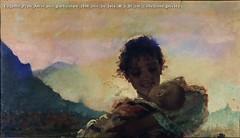 Eugenio Prati Amor mio particolare 1898 olio su tela 48 x 85 cm Collezione privata