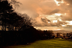 Perfect Change (Aozma Qureshi) Tags: houses england sun mountain clouds landscape countryside town shadows shades zoro yahoo:yourpictures=duskdawn