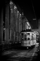 WALKING IN MILAN (skech82) Tags: street bw white black building architecture 35mm nikon strada streetphotography tram architectural costruzione bianco nero architettura biancoenero mezzoditrasporto d3000 fotodistrada skech82 skechphoto