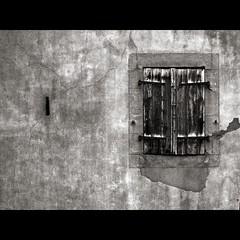 FLOODING IN OLD WALL DILAPIDATED (OLDLENS24) Tags: old white black broken window wall de flooding noir plaster infiltration shutter mur blanc deau dans dilapidated fenetre ancien cassé in volet délabré crépi