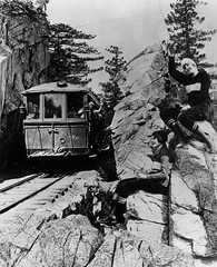 Pacific Electric Railway car no.32 on Mount Lowe Line (Scrubhiker (USCdyer)) Tags: usa hiking pasadena mountlowe pacificelectricrailwaycompany