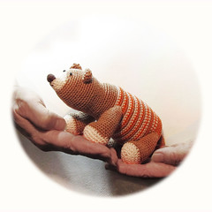 crochet bear (-Natalis-) Tags: beads crochet knitted amigurumi  knittedtoys knittedbear crochetteddybear