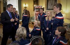 ParalympicsGB Sochi 2014 athletes (The Prime Minister's Office) Tags: uk london pm paralympics sochi davidcameron teamgb