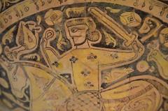 Basin with horseman, Nishapur, 10th - 11th cent (1) (Prof. Mortel) Tags: paris france iran louvre islamicart nishapur