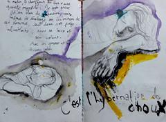 Asleep in class (fillenbulle) Tags: friends sleep dessin