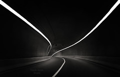Tunnel Vision (farah_shamspk) Tags: bw tunnel saudi arabia minimalism makkah leadinglines