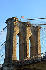 Morning Arches (pjpink) Tags: nyc morning bridge summer newyork june brooklynbridge 2015 pjpink